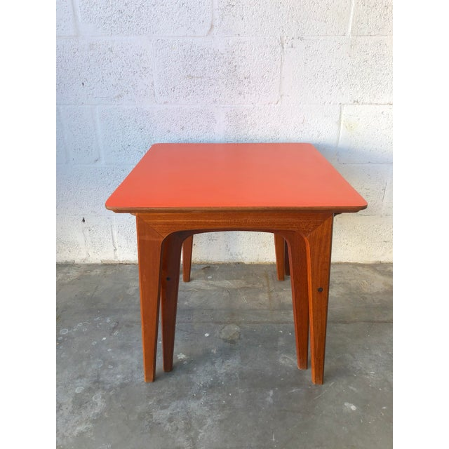 Vintage Mid-Century Danish Modern Nesting Tables (Set of Two) For Sale - Image 4 of 13