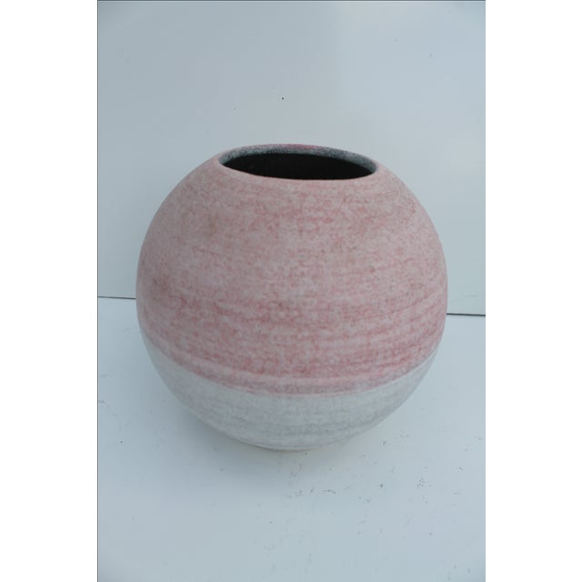 Pink Glazed Studio Pottery Vases - A Pair - Image 4 of 7