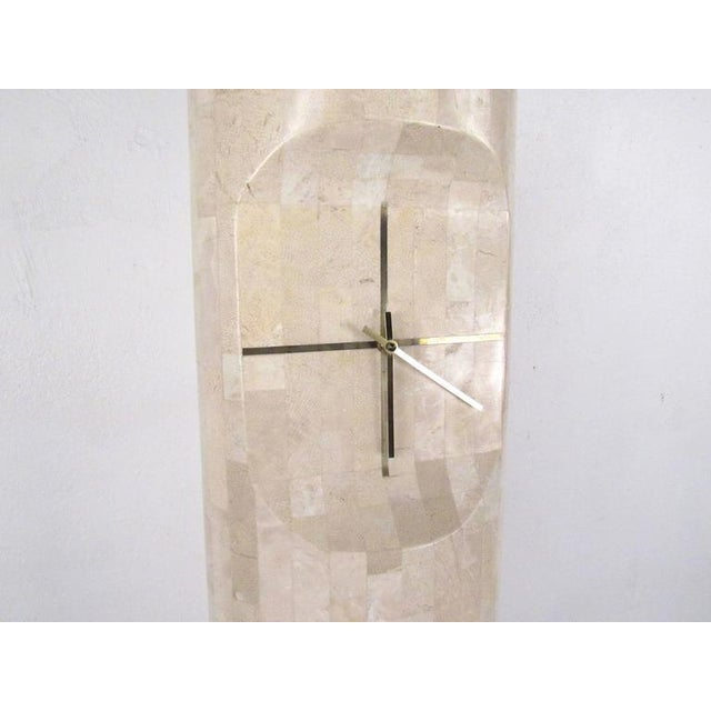 Mid-Century Modern Maitland-Smith Style Freestanding Clock For Sale - Image 3 of 10