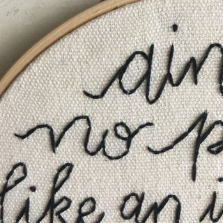 """""""Introvert Party"""" Embroidered Textile Art Preview"""