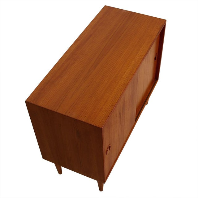 Petite Danish Modern Teak Bar Cabinet - Image 4 of 10