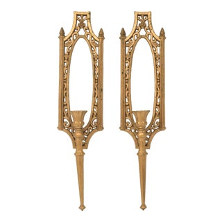 Vintage Syroco Wall Candle Sconces - a Pair For Sale