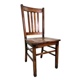 Antique Arts & Crafts Mission Oak Chair For Sale