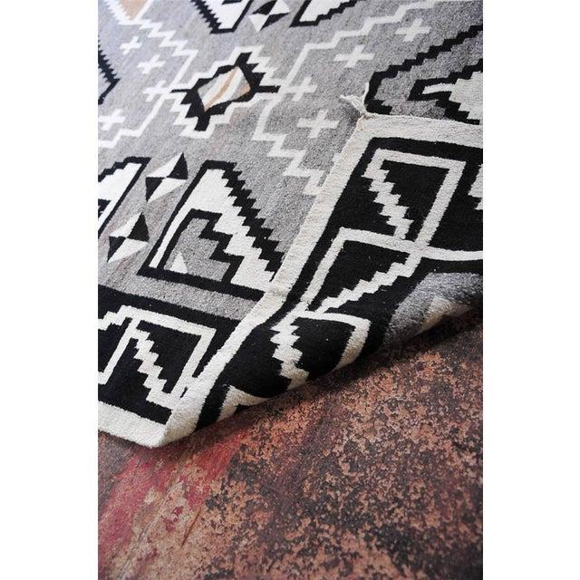"Vintage 1920s Navajo Geometric Rug - 3′6″ x 73"" - Image 11 of 11"