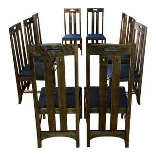 1980s Vintage Charles Rennie Mackintosh for Cassina Ingram Chairs - Set of 10 For Sale