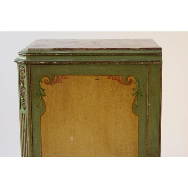 1920s Pair of Tall 1920s Marble-Top Adams Style Side Tables For Sale - Image 5 of 13