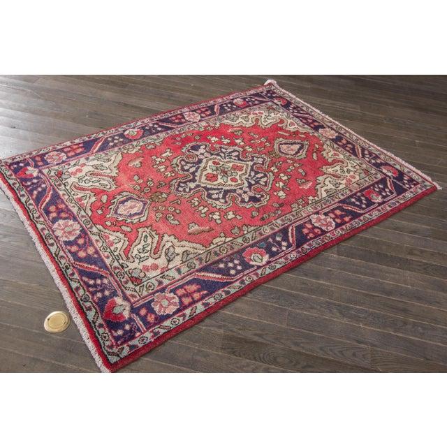 "Apadana - Vintage Persian Hamadan Rug, 4'3"" x 6'3"" - Image 4 of 4"
