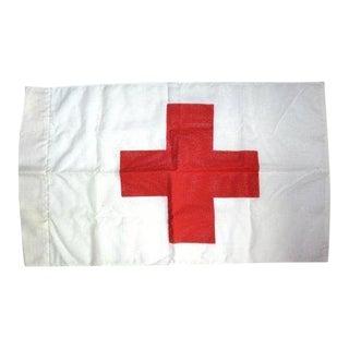 Vintage Red Cross Hospital Flag Red & White Cross Flag For Sale