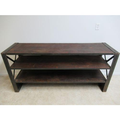 Industrial Reclaimed Steel Console For Sale In Philadelphia - Image 6 of 6