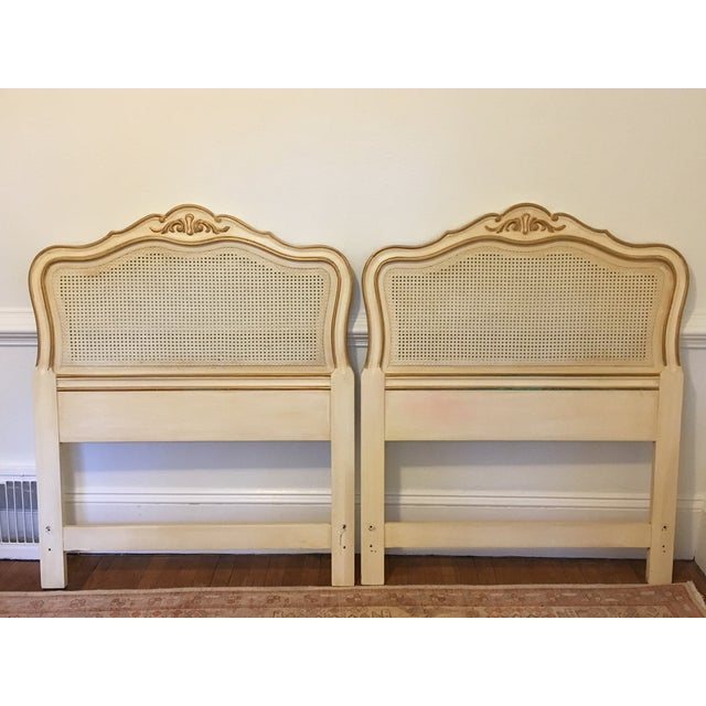 Drexel Heritage French Provincial Cane Twin Headboards - a Pair For Sale - Image 9 of 9