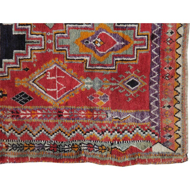 """Islamic Vintage Persian Gabbeh Rug- 4'10"""" x 7'10"""" For Sale - Image 3 of 3"""