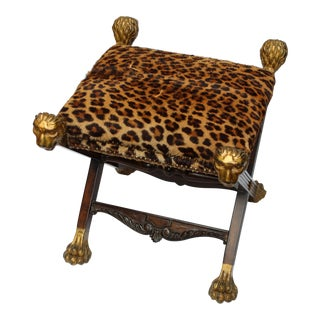19th Century Italian Provenance Baroness Margarita Von Soosten Stool For Sale