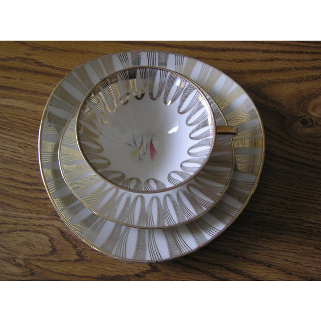 Mid-Century Coffee Cups & Plates - 12 Pieces For Sale - Image 12 of 12