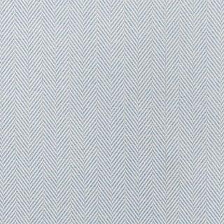 Schumacher Classic Herringbone Indoor/Outdoor Fabric in Chambray For Sale
