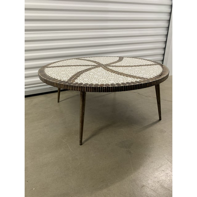 1960s Vintage Mid-Century Modern Tile Coffee Table For Sale - Image 5 of 10