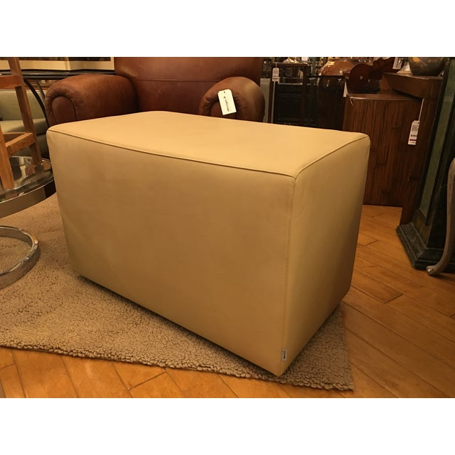 Design Plus Consignment Gallery has a leather rectangular cuboid. Designed by Piero lissoni for Living Divani. Upholstered...
