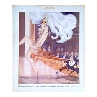 """Pem 1926 """"Music Hall"""" Le Sourire Cover Print For Sale"""