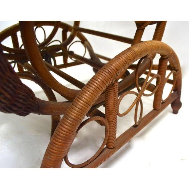 Victorian Wicker Platform Rocker For Sale - Image 9 of 13