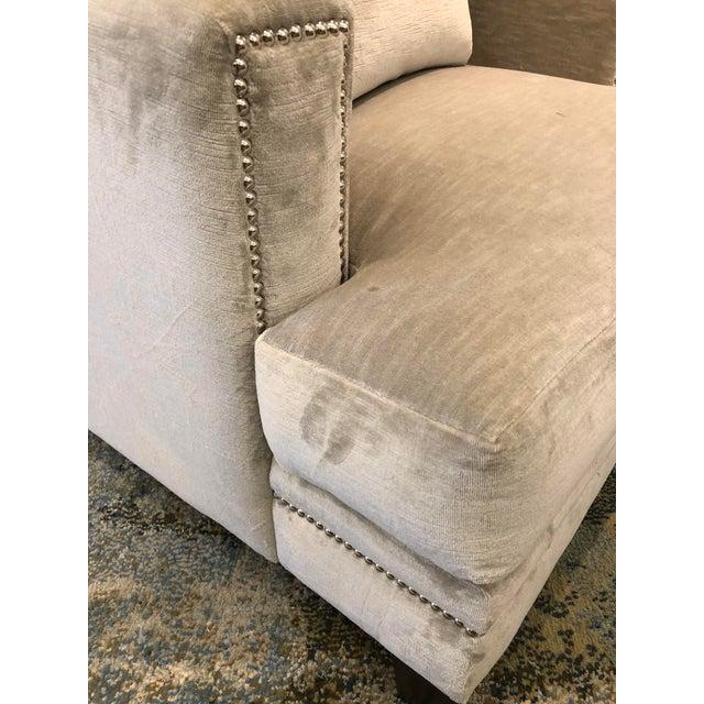 Tan Linen Velvet Gramercy Chair For Sale - Image 8 of 10