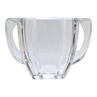 Art Deco Baccarat Twin-Handled Glass or Crystal Vase For Sale