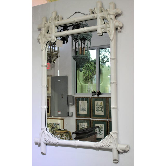 Gampel - Stoll Faux Bamboo Mirror For Sale - Image 9 of 13