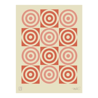 "Bullseye Chart, 12x16"" Giclee Print For Sale"