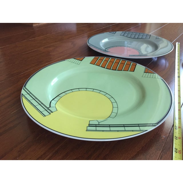 1980s Pastel Modern Chargers - Set of 5 For Sale - Image 4 of 13