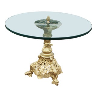 Gilt Art Nouveau Table For Sale