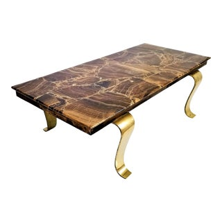Onyx Coffee Table by Arturo Pani for Muller of Mexico - Semi-Precious Stone Mid Century Modern Luxe Decor Palm Beach Chic For Sale