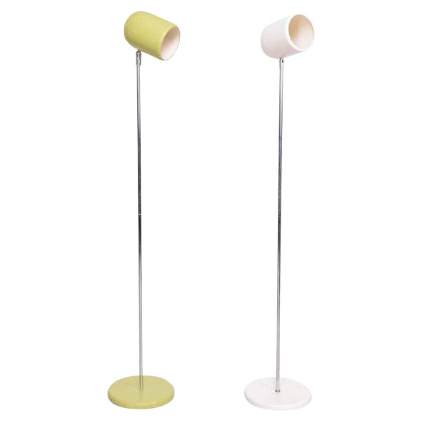 Pair of Mid-Century Floor Lamps For Sale