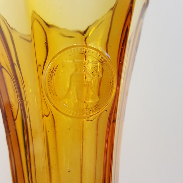 Pattern: Coin Color: Amber Manufacturer: Fostoria Date Produced: 1958-1982 Shape: Vase