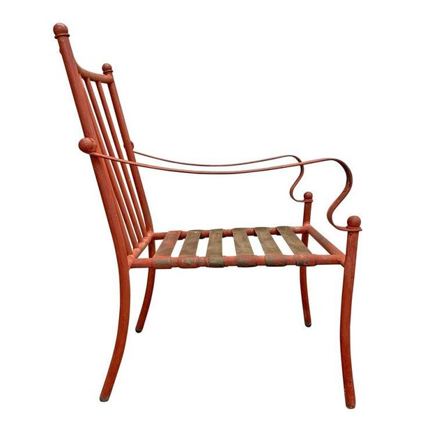 Metal Set of Four Mid-20th Century American Iron Patio Chairs For Sale - Image 7 of 12