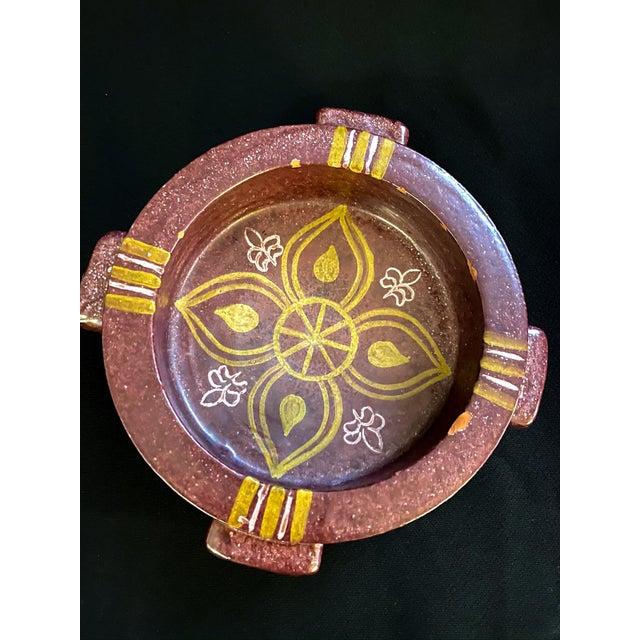 Mid-Century Spanish Alfaraz Pottery Catchall For Sale - Image 4 of 7
