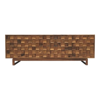 Artes & Oficios Hand Crafted Guanacaste Credenza For Sale