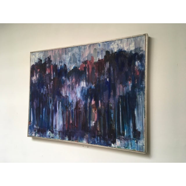 Fantastic original Abstract on cnavas with Rich Blues, Purples, Pinks, and Magentas. Signed on front and reverse...
