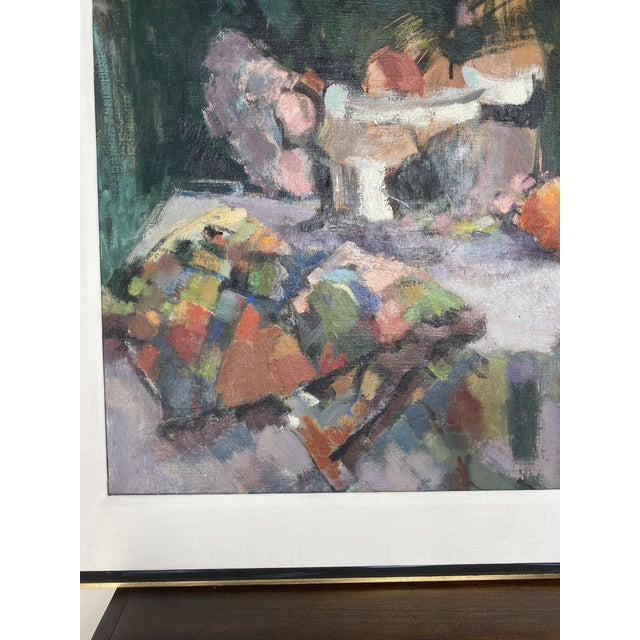 Mid-Century Modern Mid 20th Century Abstract Original Oil Still Life Painting, Framed For Sale - Image 3 of 13