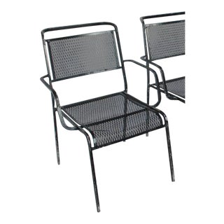 Mid-Century Garden Metal Armchair For Sale