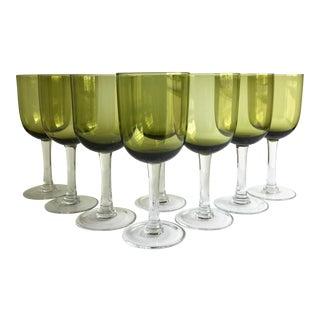 Olive Wine Glasses, Set Is 8