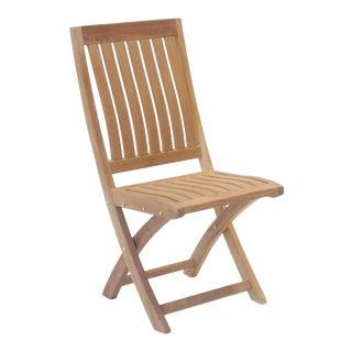 Niagara Teak Crown Folding Side Chair For Sale