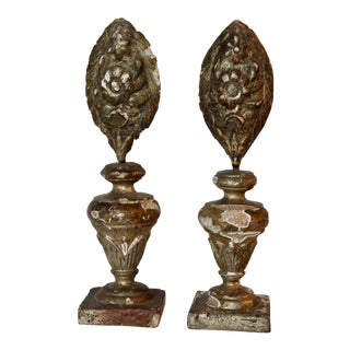 Italian Carved & Gilt Wood Architectural Pieces - A Pair For Sale