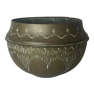 Art Deco Hand-Crafted Decorative Copper Pot or Bowl For Sale
