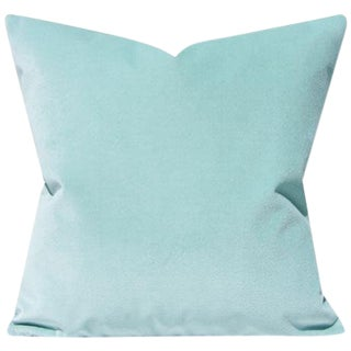 Icy Blue Glacier Velvet Pillow Cover For Sale