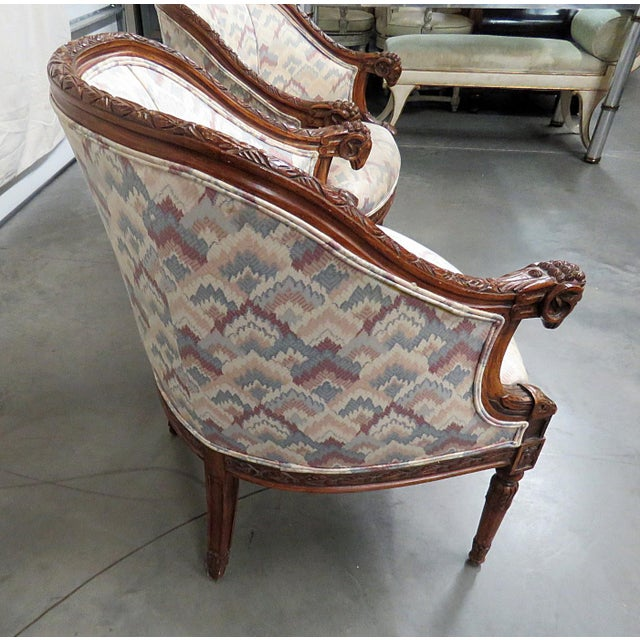 Regency Style Club Chairs - a Pair For Sale - Image 12 of 13