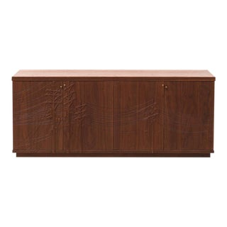 Kit Carson Electric Console in Walnut by Emily Henry For Sale