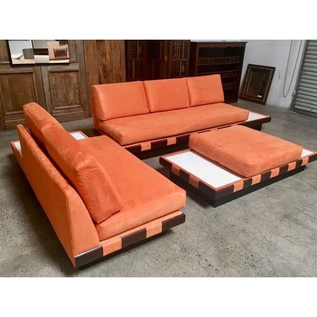 Adrian Pearsall 20th Century Adrian Persall Style Sofa Sectional and Coffee Table - 3 Pieces For Sale - Image 4 of 13
