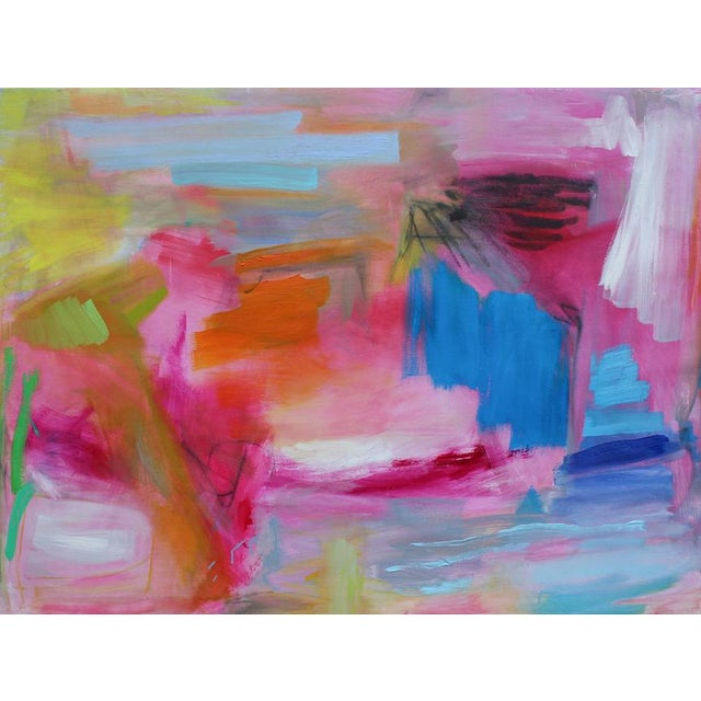 """""""Florida Feeling"""" is a NEW stunning abstract expressionist painting on Belgian linen canvas by one of Chairish's top..."""