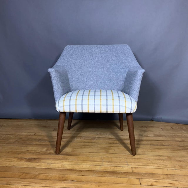 Perfectly proportioned danish furniture design armchair or easy chair with simple and elegant curve to the back and arms....