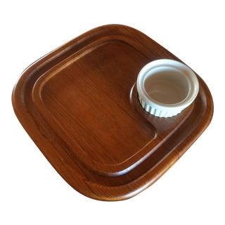 Mid-Century Dansk Style Teak Platter With Bowl