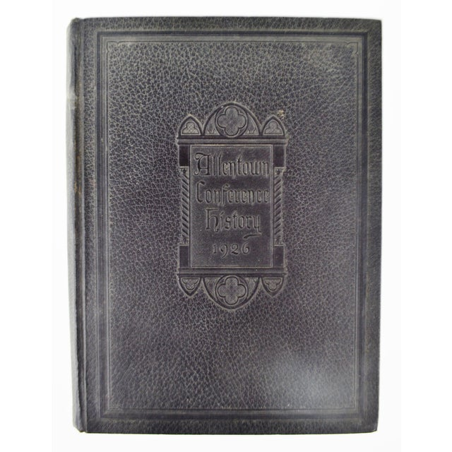 "Allentown Conference History 1926 hardcover book Approximate Dimensions: 10.75"" high x 8"" wide x 1.25"" deep Please use..."