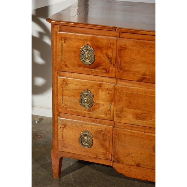 An excellent Italian commode, circa 1760, having three full length drawers and raised on four small tapering legs. With...
